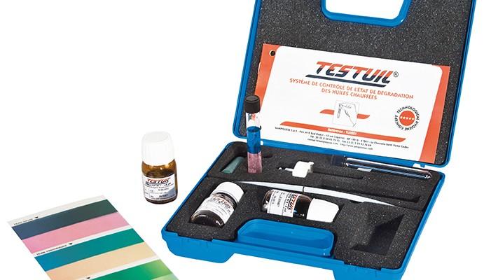 kit testuil pour le contr le des huiles de fritures. Black Bedroom Furniture Sets. Home Design Ideas