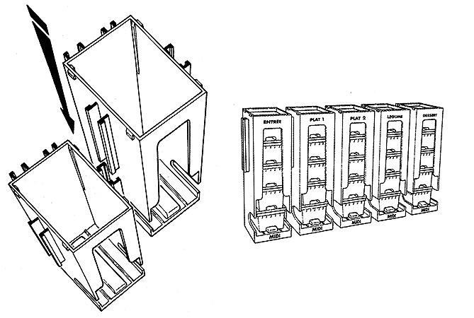 Assemblage en ligne des modules côte à  côte, grâce aux glissières prévues sur les côtés.