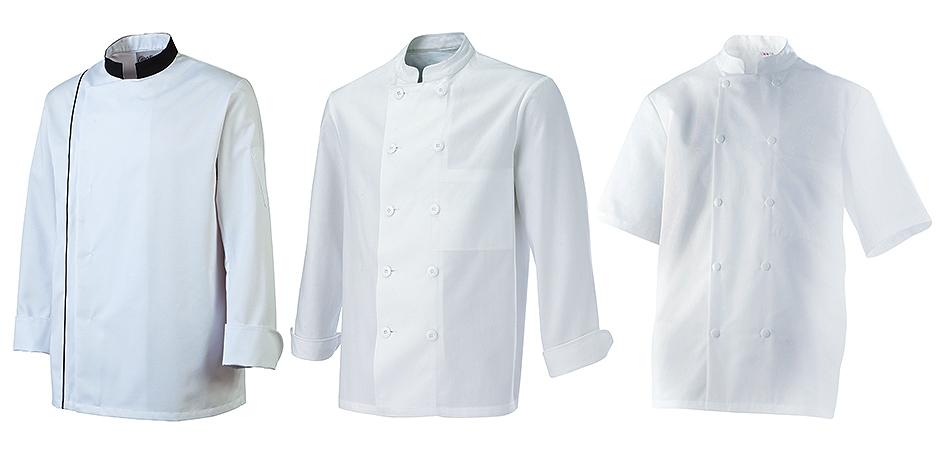vestes de cuisine blanches homme