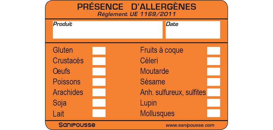 etiquette allergene sanipousse
