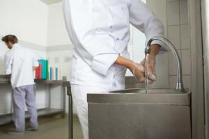 Lavage des mains en cuisine