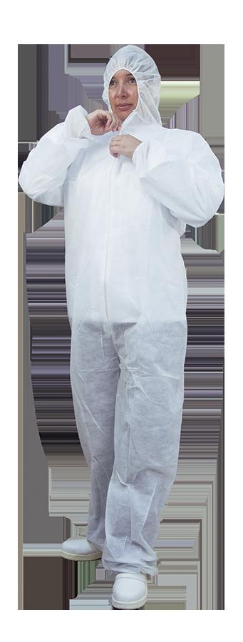 Combinaison polypropylène pour les personnels de la restauration et un respect des normes haccp