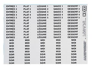étiquettes de suivi pour module Sanipousse