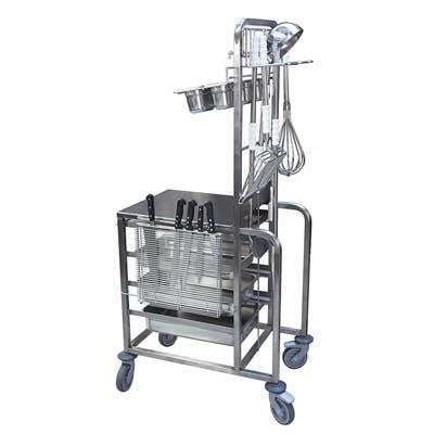 chariot multifonctions de cuisine professionnelle sanipousse. Black Bedroom Furniture Sets. Home Design Ideas