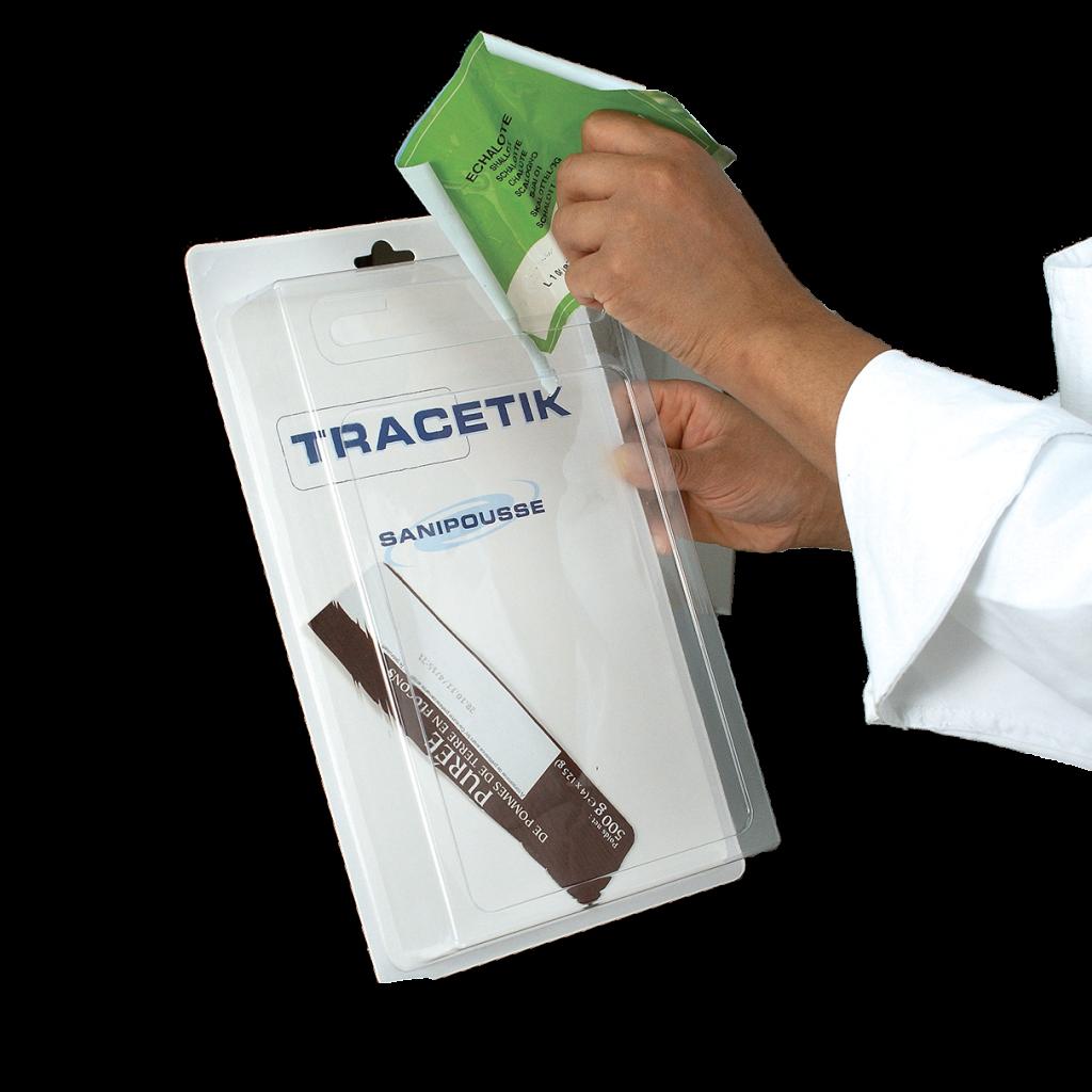 Boîte de conservation des étiquettes de traçabilité