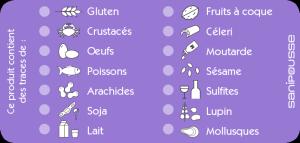 étiquettes présence allergènes